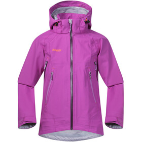 Bergans Ervik Jacket Youth Girls Pink Rose/Plum/Peony